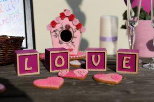 Dekorační kostky LOVE